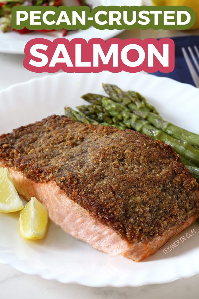 Super Easy Paleo Pecan-crusted Salmon (Whole30, grain-free, dairy-free, and gluten-free)