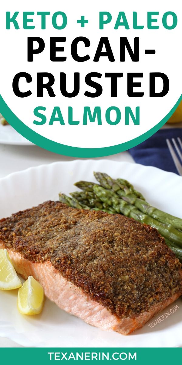 This pecan-crusted salmon is an easy way to transform salmon into something extra delicious! It's also Whole30-friendly, paleo and keto.