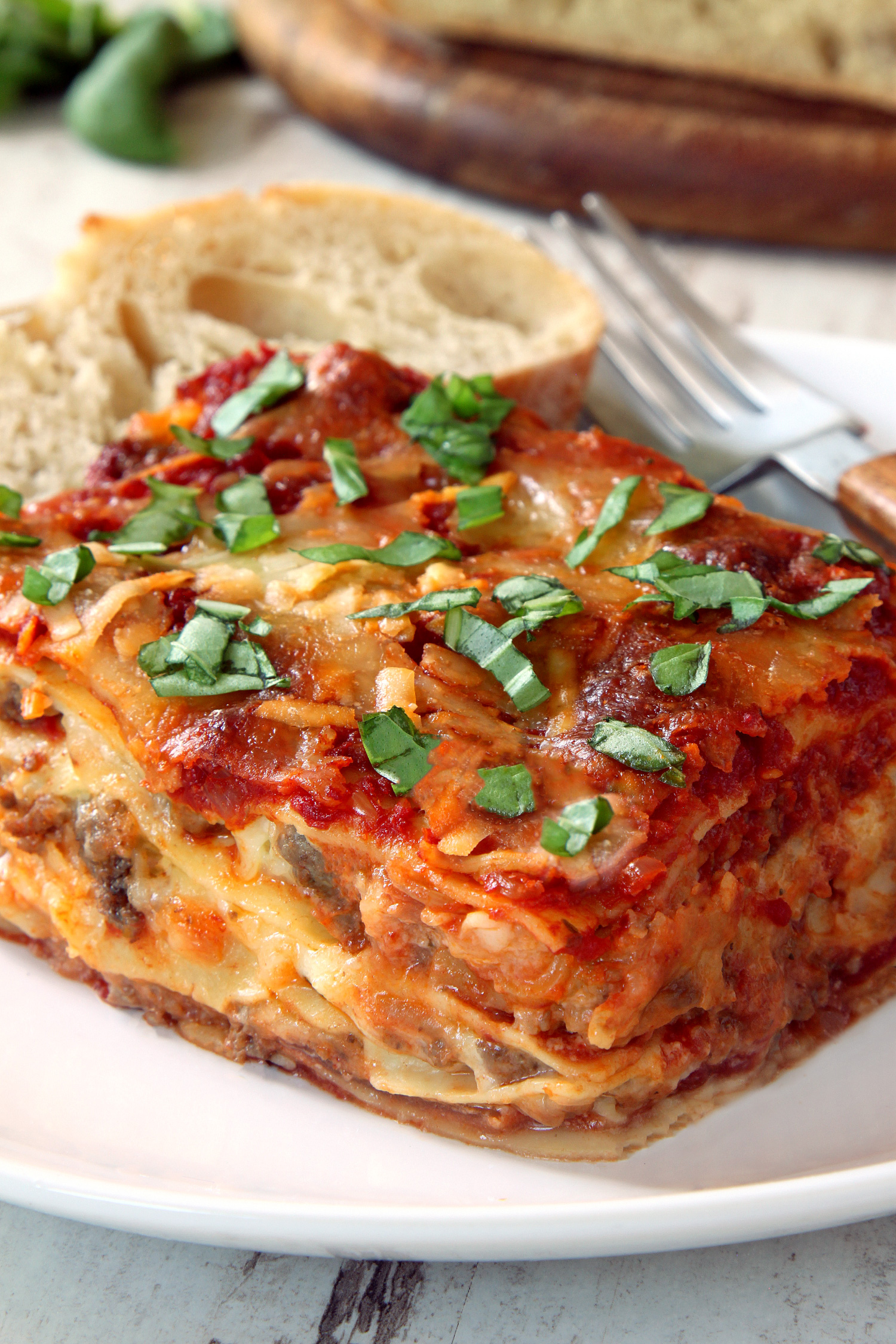 Classic homemade lasagna gluten free whole wheat options for Different kinds of lasagna recipes