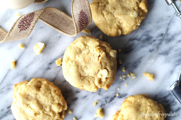 Gluten-free white chocolate macadamia cookies