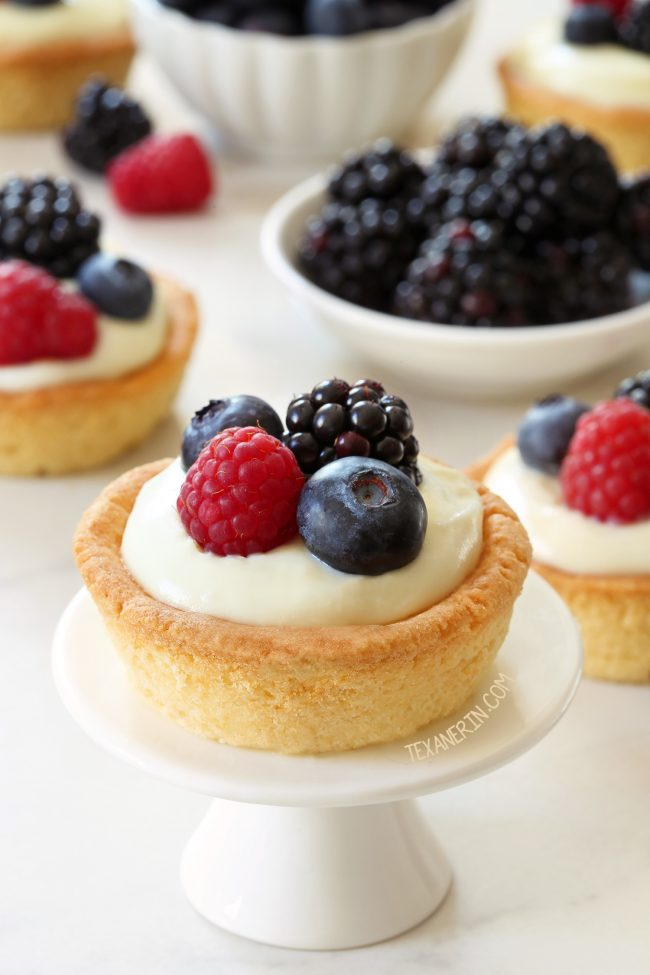 These cheesecake cookie cups have a sugar cookie crust and a delicious white chocolate cream cheese filling. Can be made with gluten-free, whole wheat and all-purpose flours.