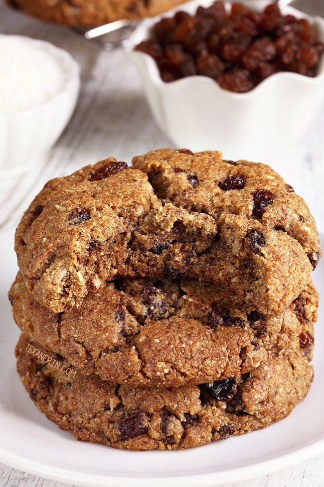 Paleo Oatmeal Cookies Vegan Option Grain Free Gluten Free Dairy Free