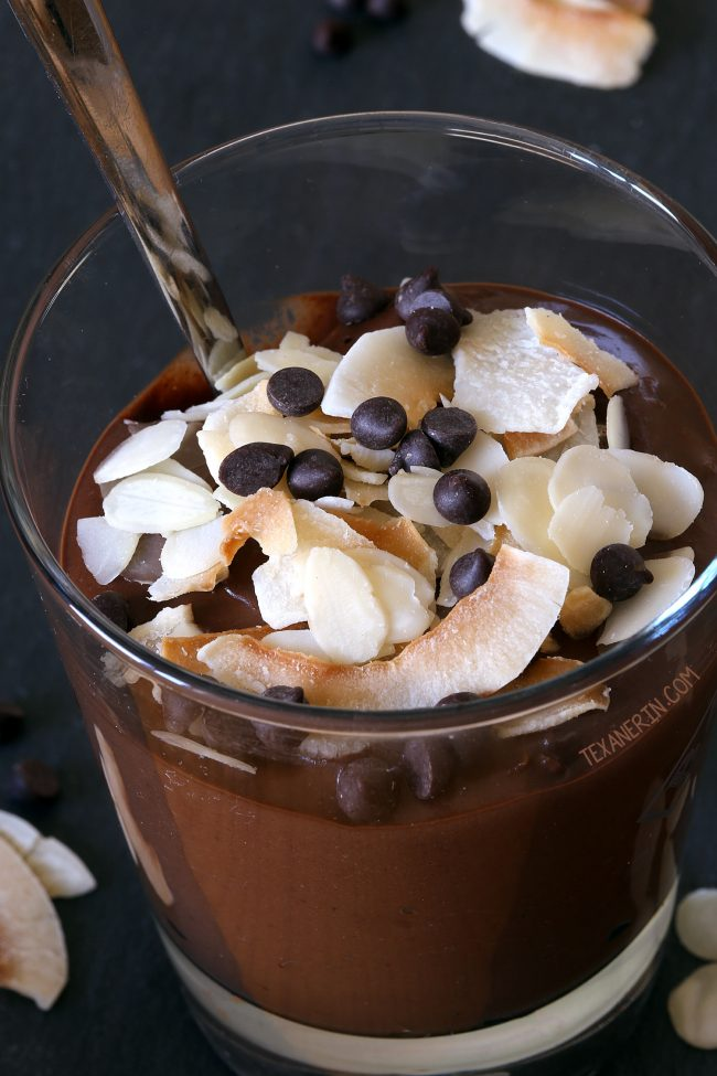 Chocolate Almond Smoothie (vegan, dairy-free, grain-free, and gluten-free)