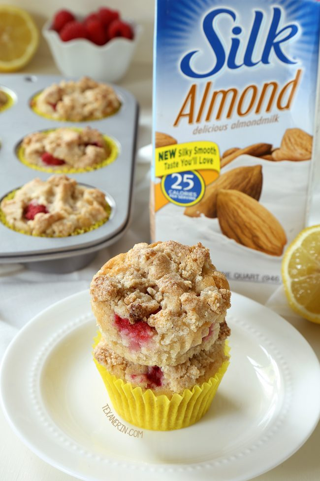 These Raspberry Lemon muffins are insanely moist, naturally vegan and can be made gluten-free, whole wheat or with all-purpose flour.