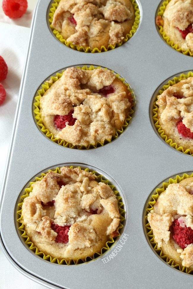 Raspberry muffins with a nice lemon flavor! Super moist, naturally vegan and can be made gluten-free, whole wheat or with all-purpose flour.