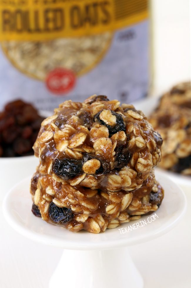 Super quick and easy No-bake Oatmeal Cookies (vegan, gluten-free, dairy-free, and whole grain)