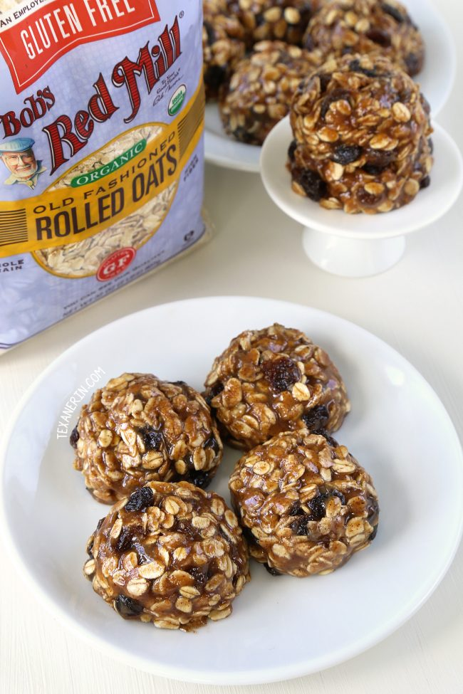 Super quick and easy No-bake Oatmeal Cookies (gluten-free, vegan, dairy-free, and whole grain)