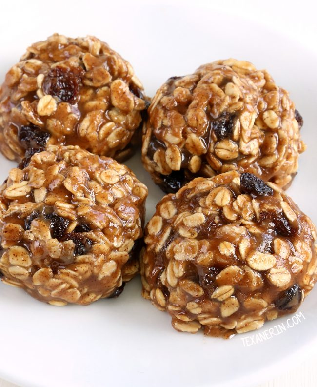 Super quick and easy No-bake Oatmeal Cookies (vegan, gluten-free, dairy-free, whole grain)