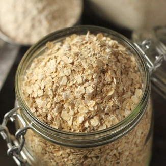Oats in a glass
