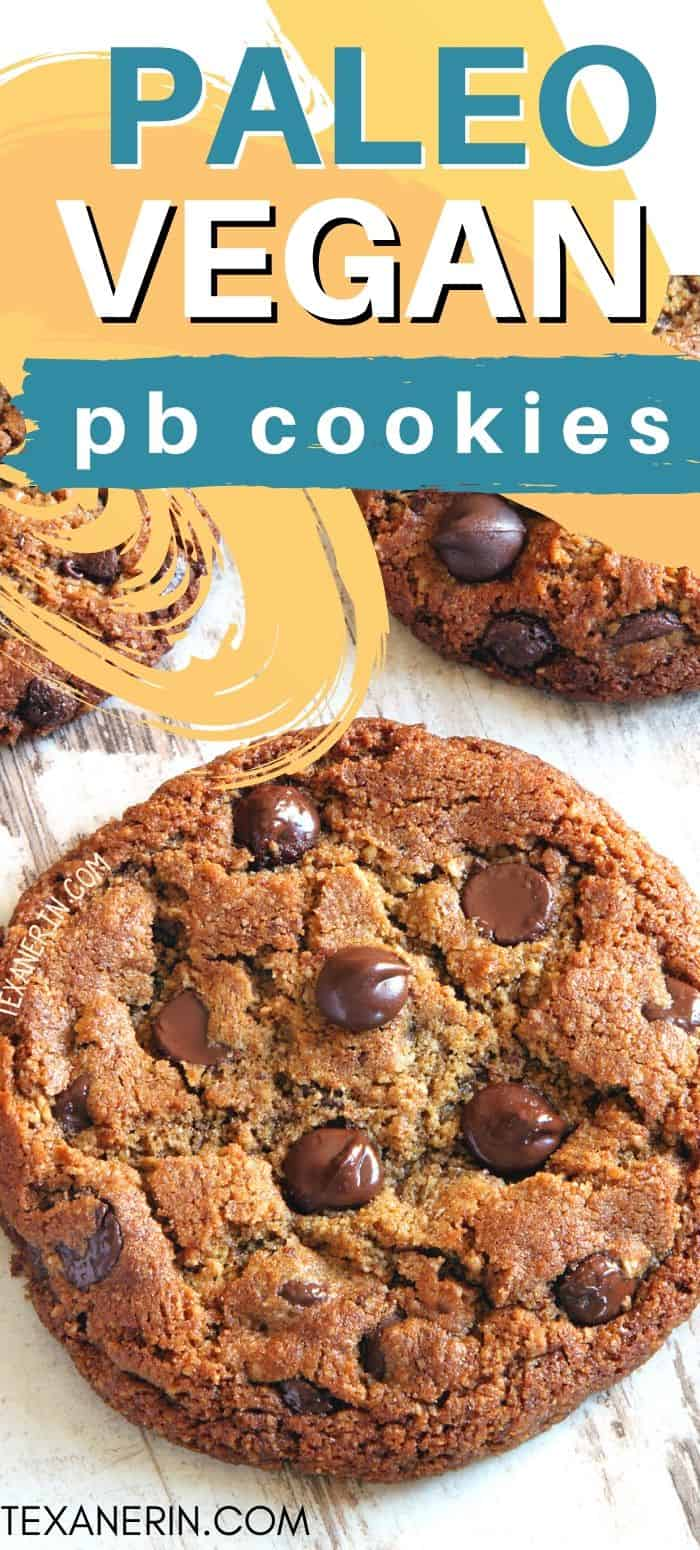 These paleo peanut butter cookies use sunflower seed butter and have a crisp edge and chewy center! With a vegan option. An amazing paleo cookie recipe!