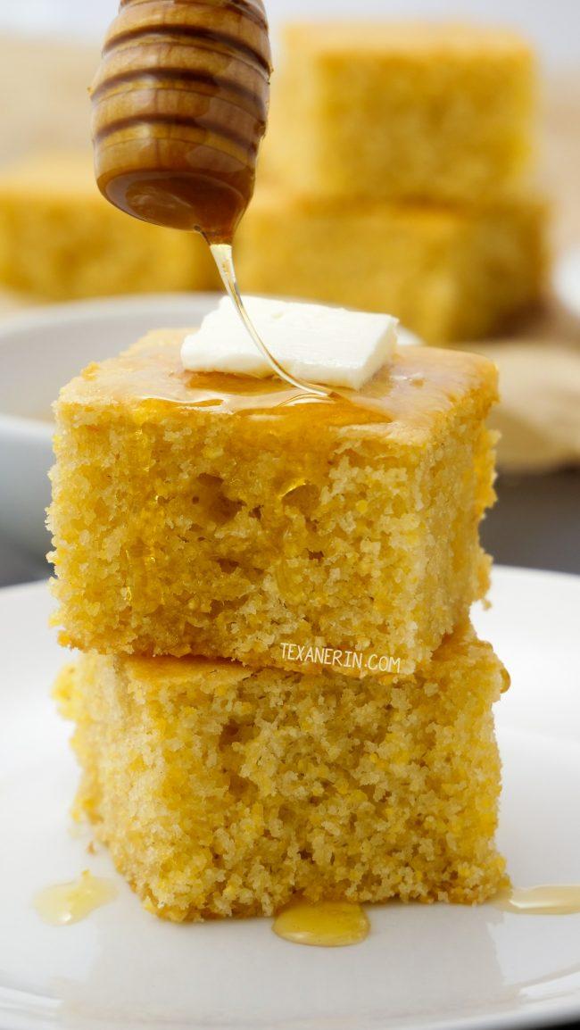 Gluten Free Cornbread Vegan Option Texanerin Baking
