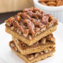 Pecan Pie Bars (gluten-free, whole wheat, all-purpose flour options)