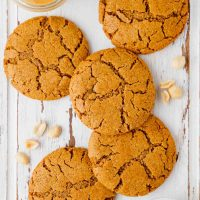 Gluten-free Peanut Butter Cookies on baking paper