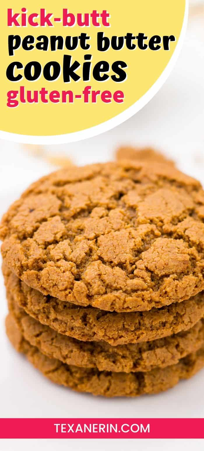 These gluten-free peanut butter cookies are flourless, super easy, and require just a few ingredients and minutes to make! They're also naturally grain-free and dairy-free.