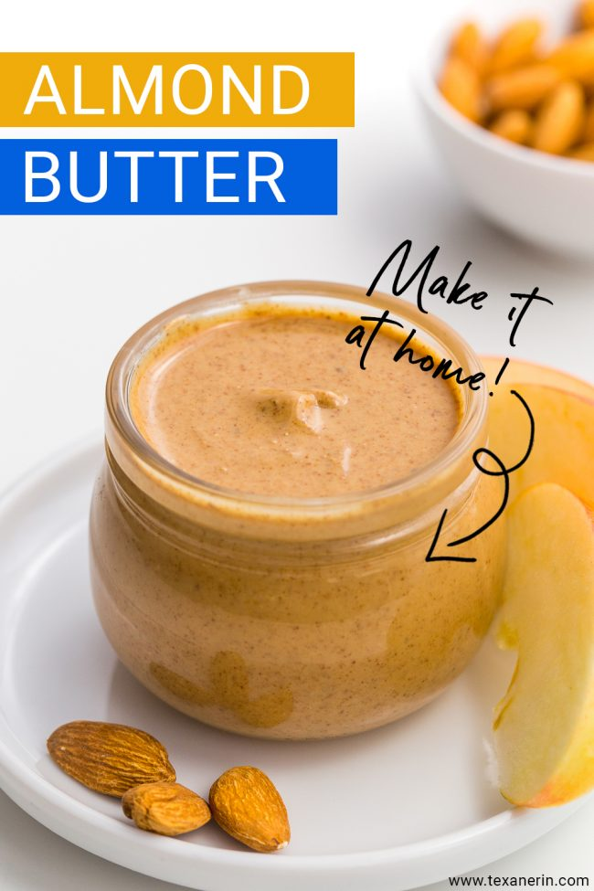 How to Make Almond Butter – the ultimate guide! All you need are almonds and a food processor for your own homemade almond butter that costs a fraction of the store-bought kind.