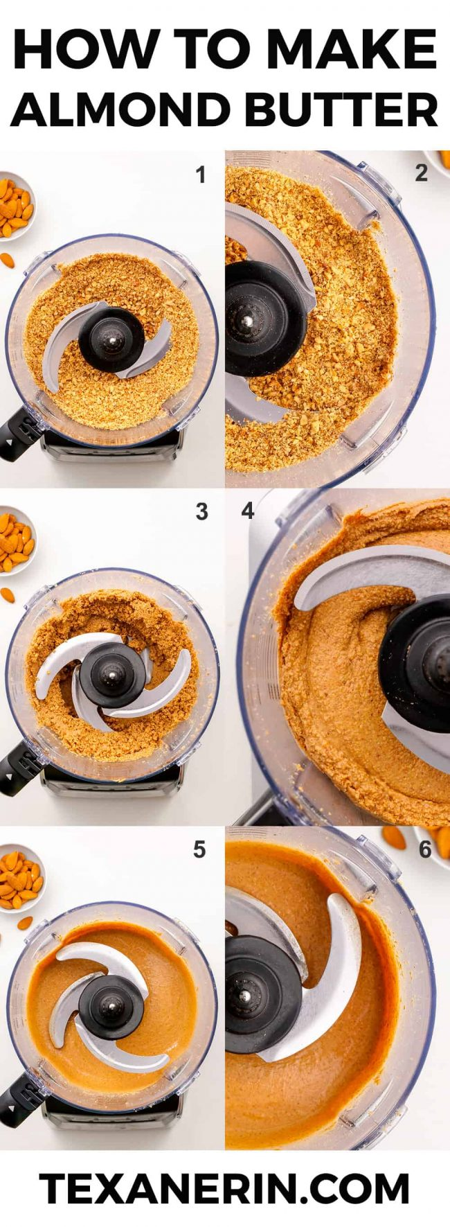 How to Make Almond Butter – the ultimate guide! All you need are almonds and a food processor for your own homemade almond butter that costs a fraction of the store-bought kind. So easy!