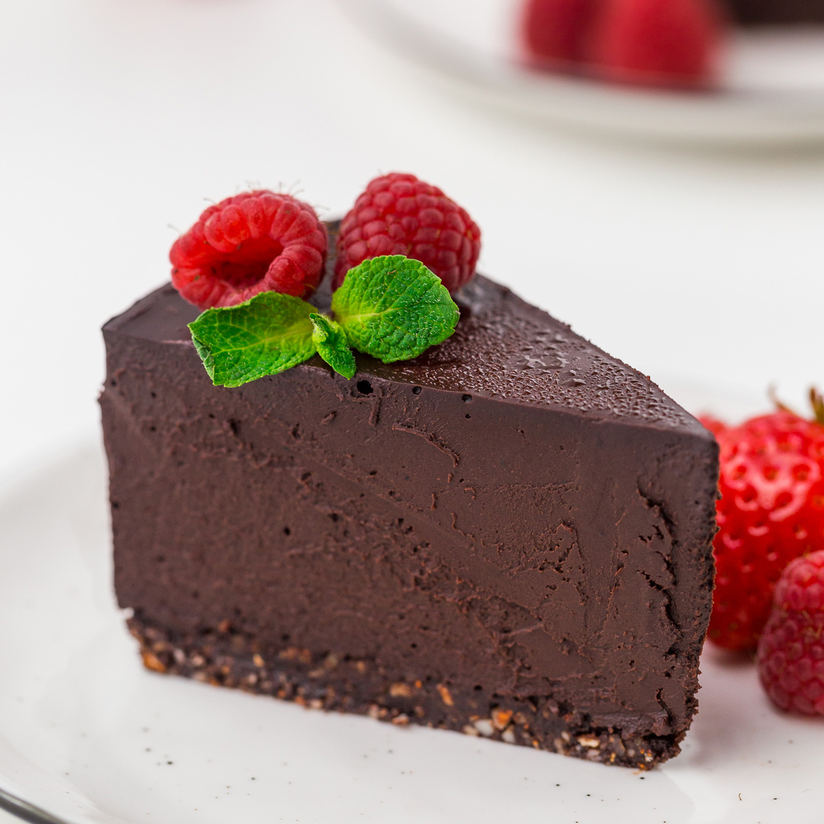 Vegan Gluten Free Chocolate Fudge Cake