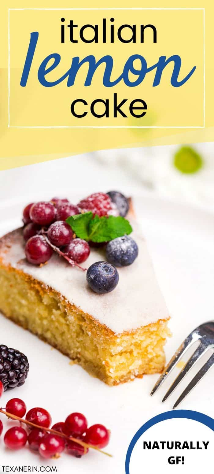 This Italian lemon almond flour cake (also known as torta caprese bianca) is full of lemon flavor and has a lovely texture! It's also gluten-free and grain-free.