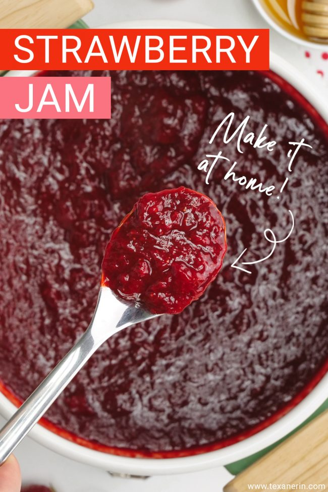 Wondering how to make strawberry jam? All you need to do is boil a few ingredients you probably already have! This amazingly heasy, pectin-free and lower in sugar homemade strawberry jam can also be sweetened naturally and is paleo and vegan. With a how-to recipe video.