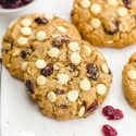 White Chocolate Cranberry Cookies (gluten-free, vegan options)