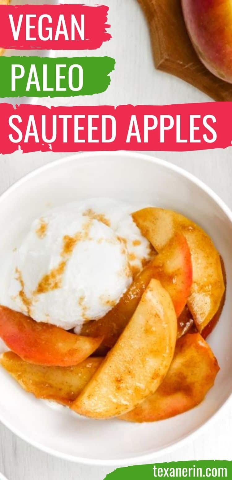 These sauteed apples are lightly sweetened with maple syrup and are quick and easy to prepare! They're also gluten-free, vegan, paleo and dairy-free.