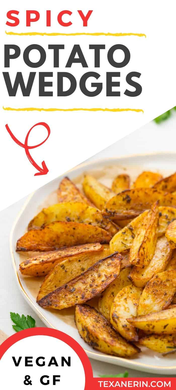 This potato wedge recipe is easy, spicy and a healthy alternative to French fries! They're perfect alongside almost anything and great for parties and barbeques. An easy potato recipe!