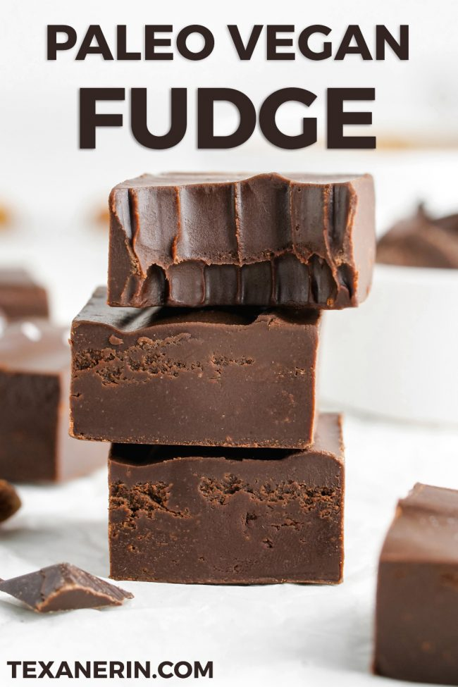 This vegan fudge is super creamy, easy to make and stays solid at room temperature! It really tastes like traditional fudge and can also be made paleo.