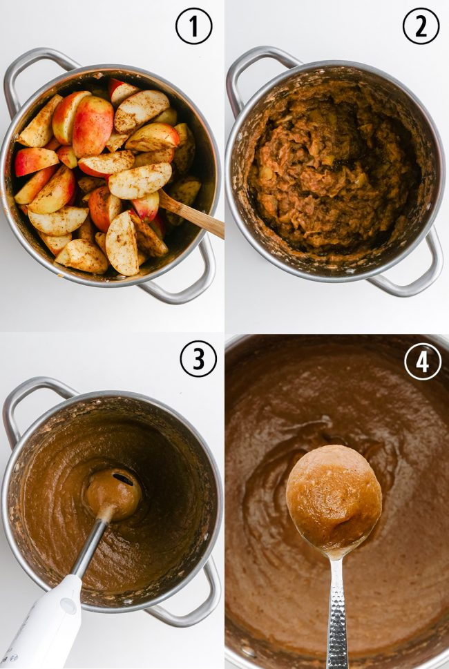 This homemade apple butter only takes 1 1/2 hours and is free of added sweetener! Naturally vegan and paleo.