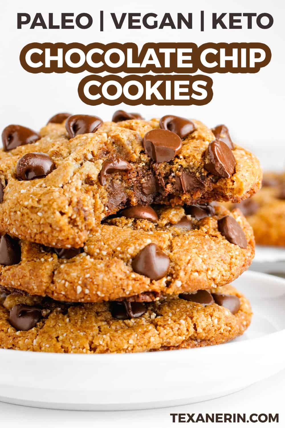 These amazing paleo chocolate chip cookies are thick, chewy and have the perfect texture. Many of the reviewers have called these the best cookies ever and said that nobody had a clue that they were paleo (or even gluten-free)!