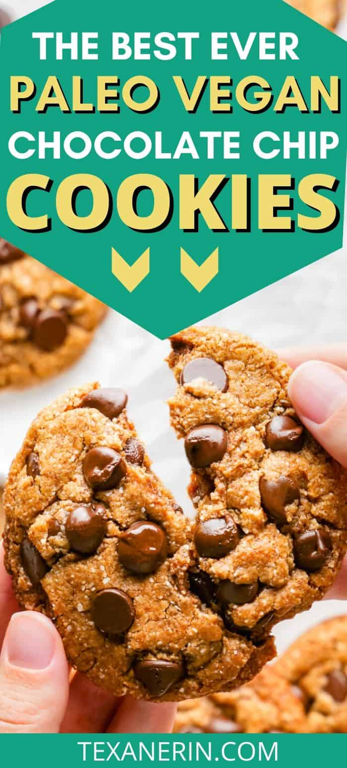 These amazing paleo chocolate chip cookies are thick, chewy and have the perfect texture. Many reviewers have called these the best cookies ever and said that nobody had a clue that they were paleo (or even gluten-free)! With vegan and keto options.