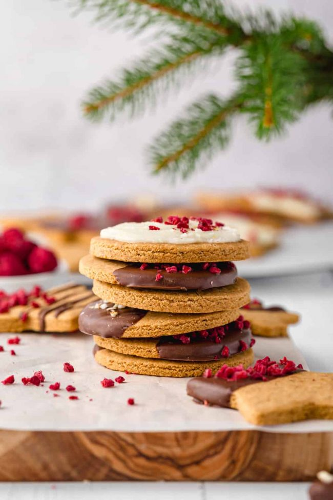 These cassava flour cookies are fantastic sugar cookies that can be rolled out into shapes. These cookies are also AIP, vegan and paleo-friendly