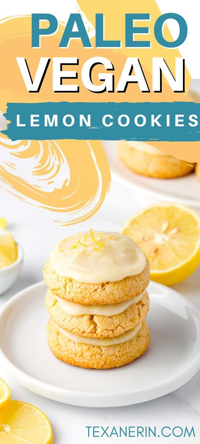 Gluten-free lemon cookies that are also vegan, paleo, easy to make and have a delicious frosting!