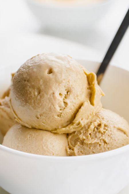 Recipes for kids to make - healthy peanut butter ice cream