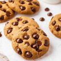 Almond Flour Chocolate Chip Cookies (keto, vegan, paleo option)