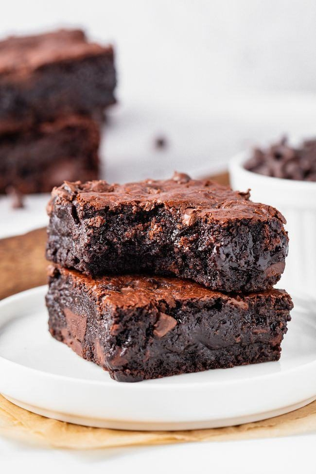 These almond flour brownies are just as delicious as traditional gooey brownies but are made entirely with almond flour and can easily be made paleo and dairy-free. Super easy to make!