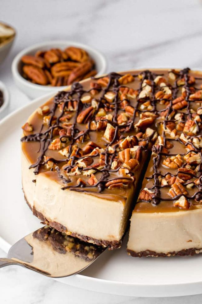Paleo Desserts - Vegan Turtle Cheesecake