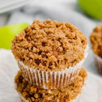 These gluten-free apple muffins are ultra moist, flavorful and have a delicious streusel topping! They also have a dairy-free option. The best apple muffins I've ever had!
