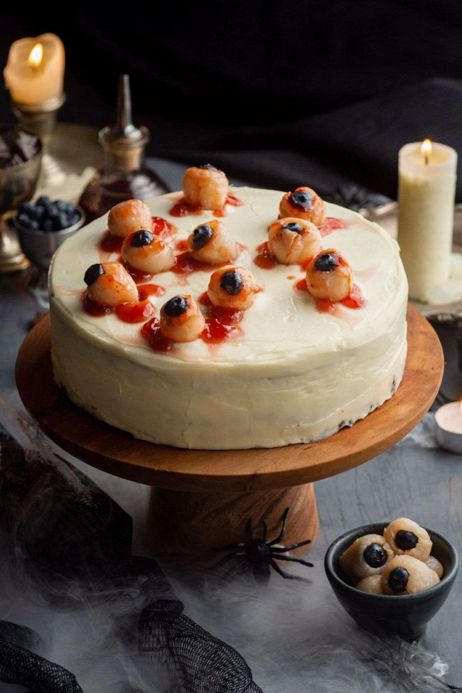 Halloween Cake with Eyeballs