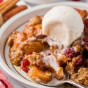 Cranberry Apple Crisp (gluten-free, vegan options)