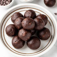 Cocoa Balls on plate