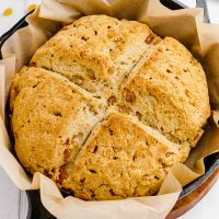 gluten-free soda bread in pan