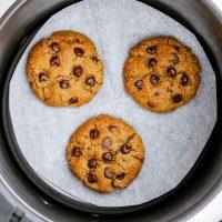 paleo air fryer cookies in basket