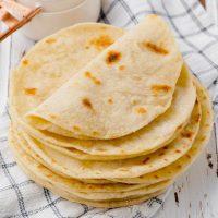 stack of vegan tortillas