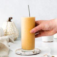 pumpkin smoothie in glass