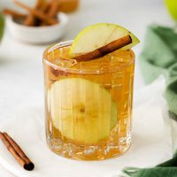glass with apple juice cocktail